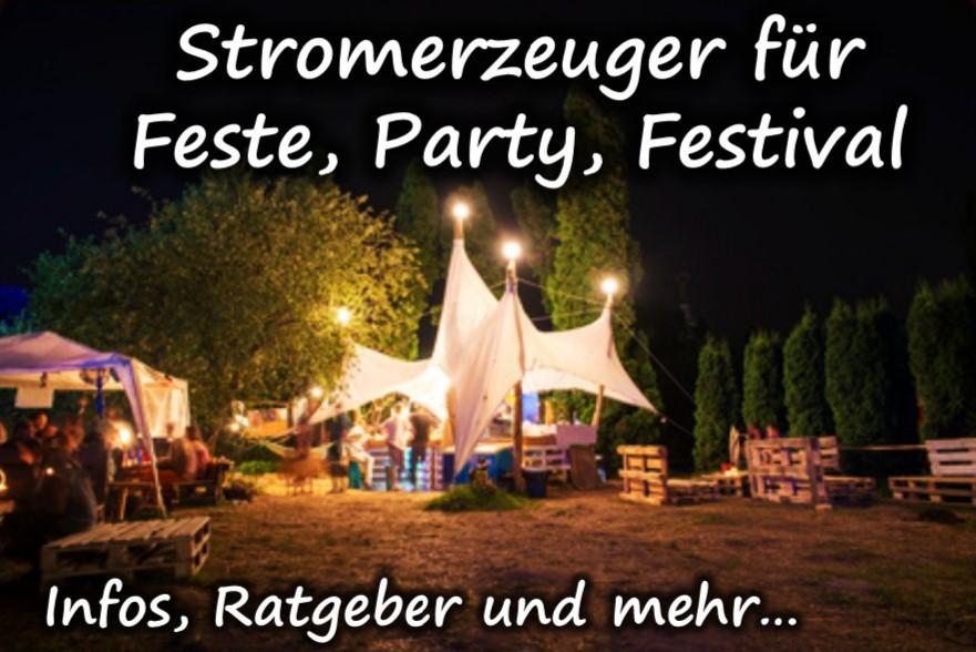 Stromerzeuger für Party, Feste, Festivals